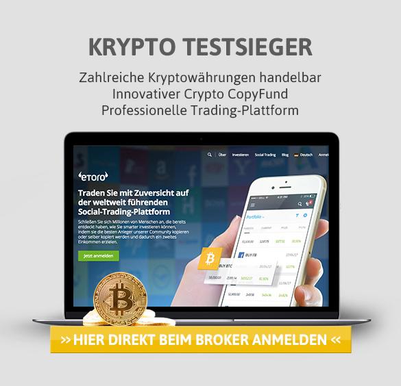 eToro Krypto Broker Testsieger