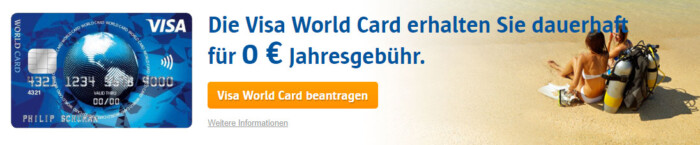 ICS VISA World Card Kreditkarte beantragen