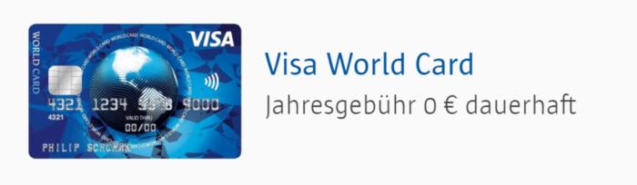 ICS VISA World Card Kreditkarte Erfahrungen