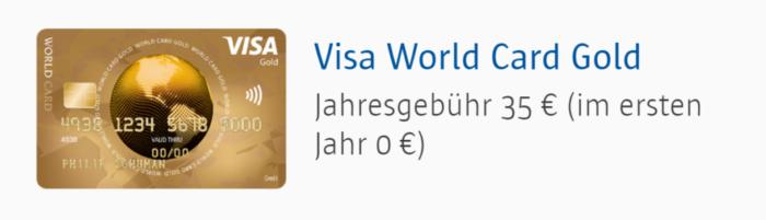 ICS VISA World Card Kreditkarte Test