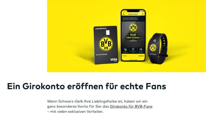 Kostenlose Bankkarte im BVB-Design