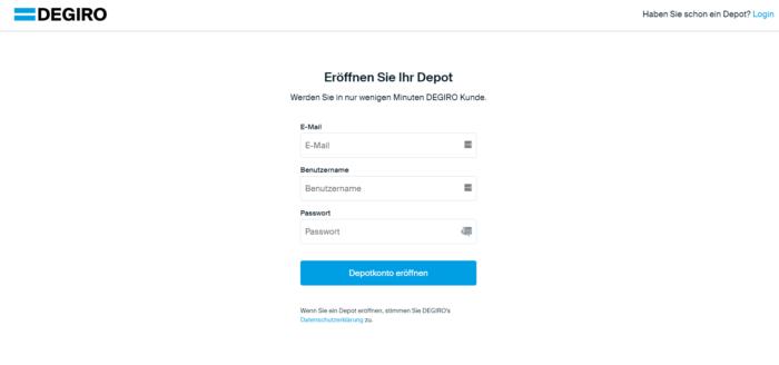 DEGIRO ETF Kosten Kontoeröffnung