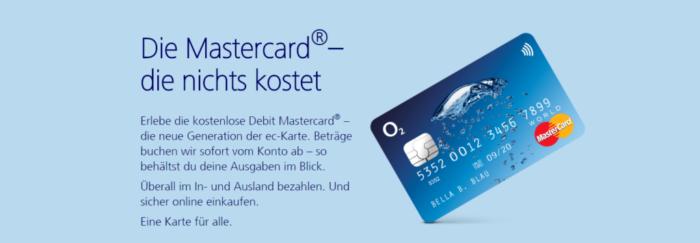 O2 banking Mastercard