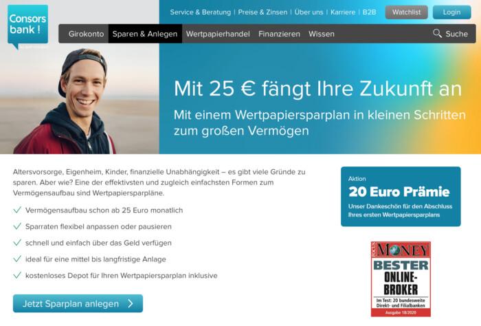 Consorsbank Sparplan Prämie