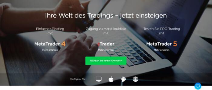 OctaFX hält verschiedene Trading Plattformen bereit