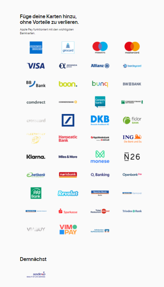 ING Apple Pay Girocard