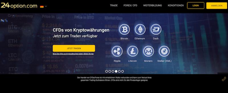 24option Krypto Erfahrungen von Depotvergleich.com