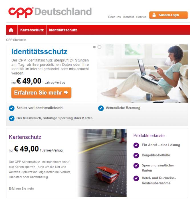 Die Homepage von CPP