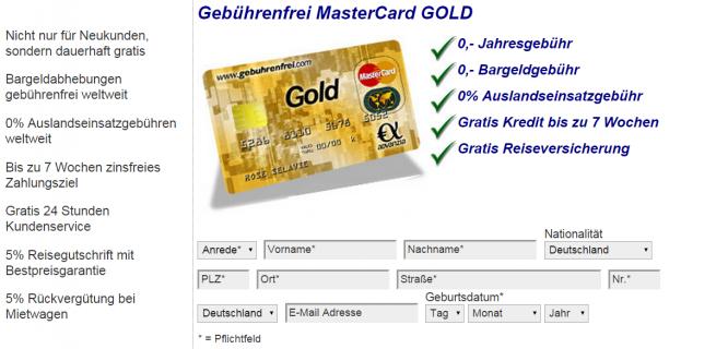 Der Kreditkartenantrag bei der Advanzia Bank