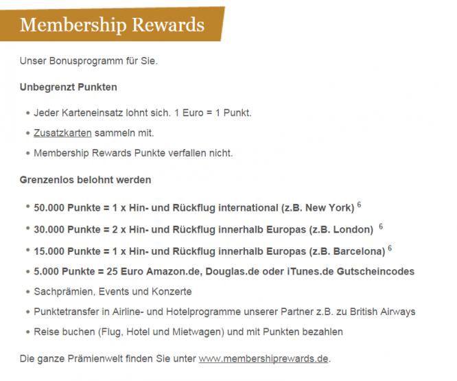 Das Membership Reward-Bonusprogramm von American Express