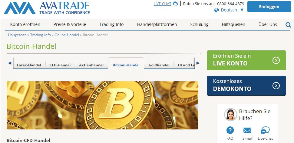 AvaTrade Krypto-Handel
