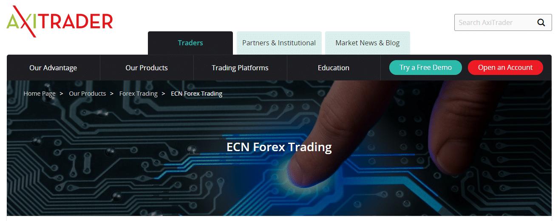 AxiTrader ECN Forex