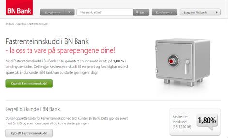 Die Homepage der BN Bank