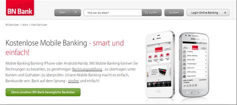 Die mobilen Anwendungen der BN Bank