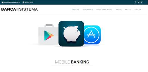 Die Mobile App der Banca Sistema