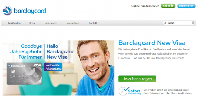 Das New Visa Angebot und die Barclaycard Bewertung