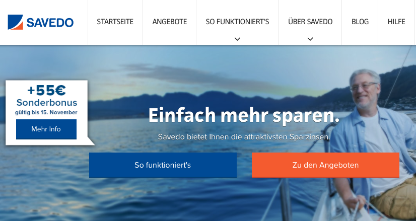 Savedo GmbH Zinsen für Festgeld