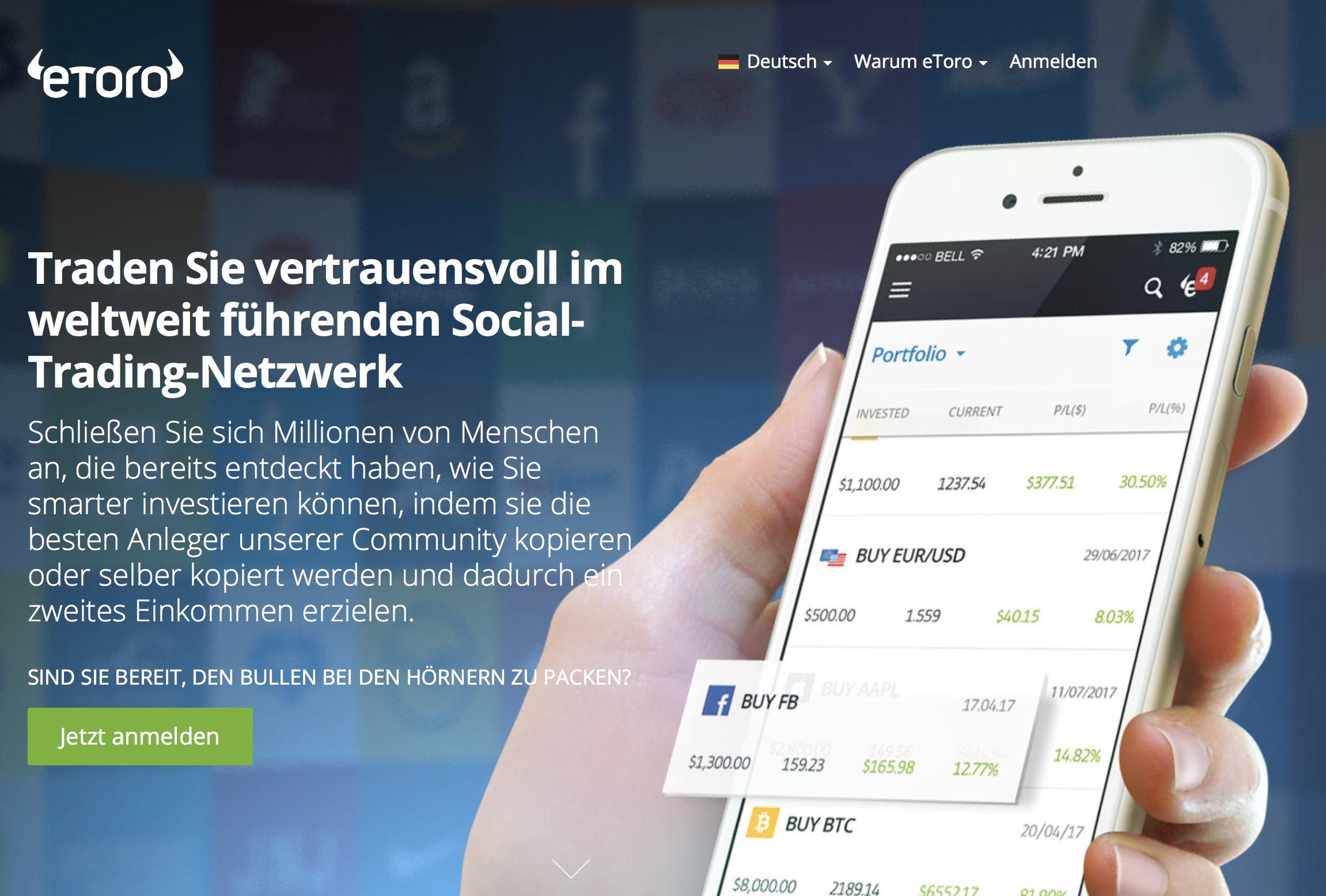 Weltweit führend im Social-Trading - eToro