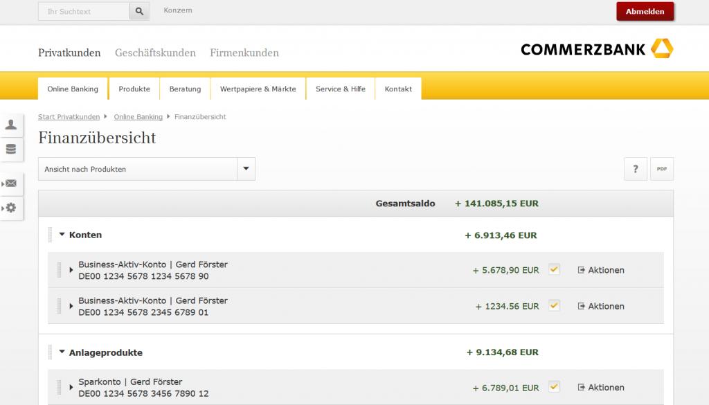 Online Banking im Demokonto