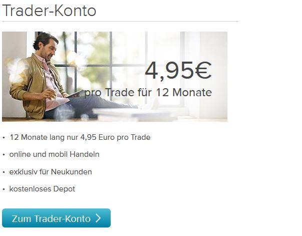 Trader-Konto mobil führen.