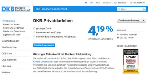 Das Privatdarlehen der DKB