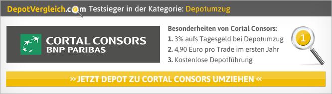 Consors Depotübertrag