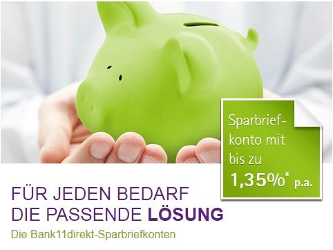 Bank11Direkt Sparbriefkonto