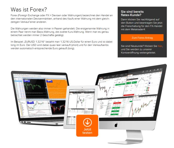 Forex-Handel bei Flatex