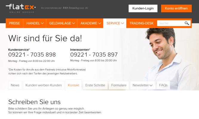 Der Kundensupport von Flatex