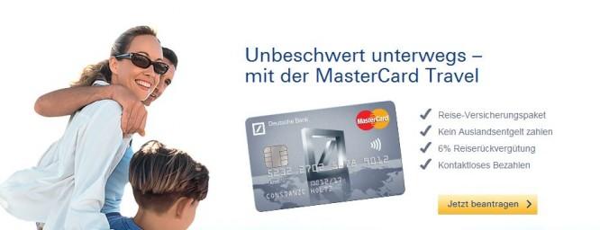 MasterCard Travel von der Deutschen Bank