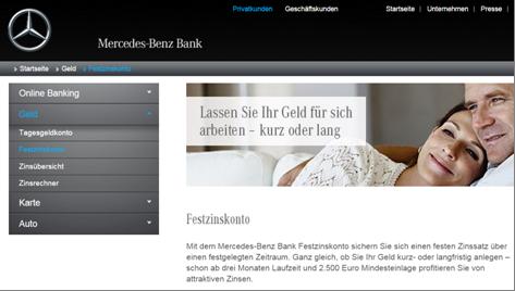 Das Festzinskonto-Angebot der Mercedes-Benz-Bank