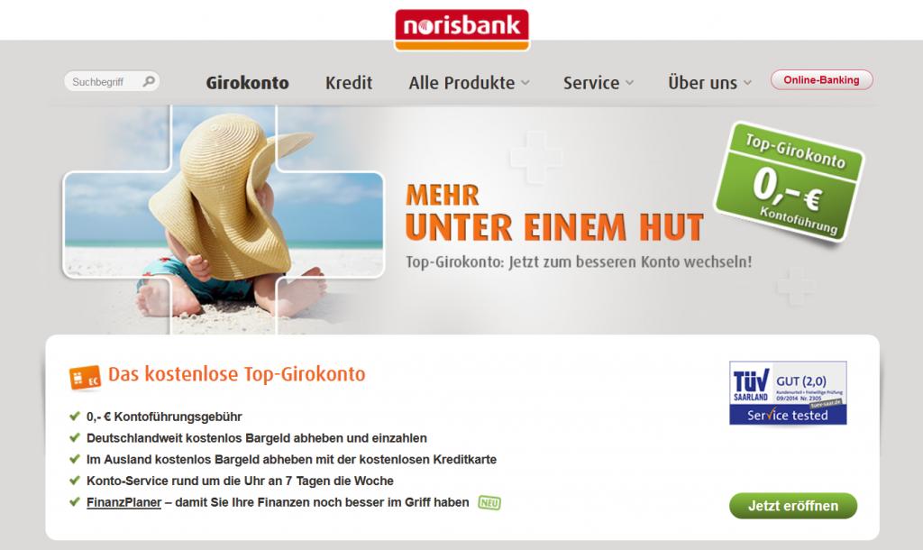 Das Girokonto der Norisbank im Überblick