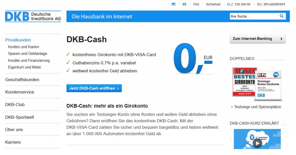 Unser Testsieger: Das DKB-Cash-Konto
