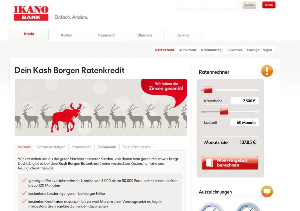 Kash Borgen bei der IKANO Bank