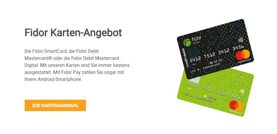 Fidor Bank Kreditkarte