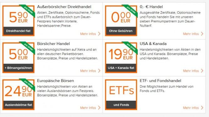 Flat ab 5,90 Euro oder Handel zum Nulltarif.