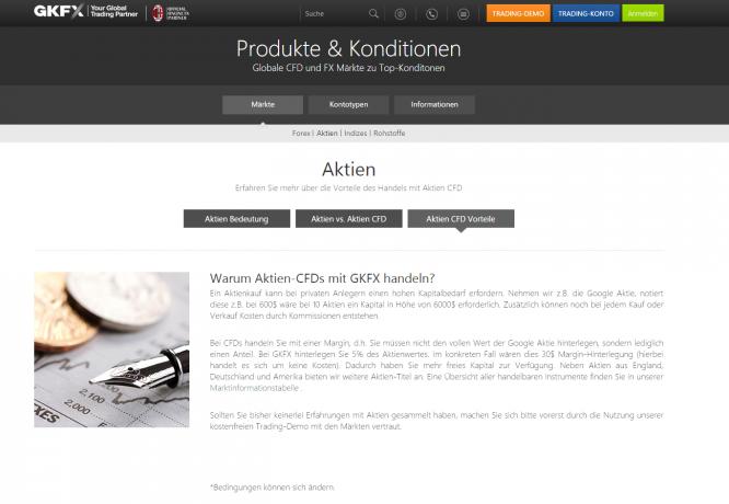 Aktien CFDs bei GKFX