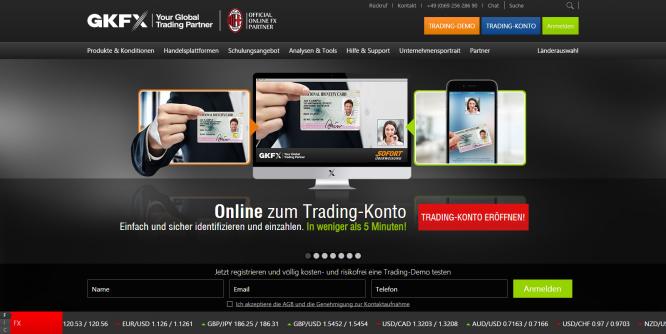 Startseite von GKFX