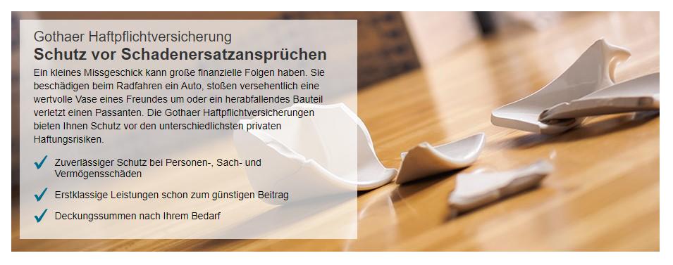 Gothaer Privathaftpflichtversicherung Erfahrungen