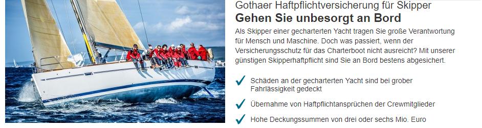 Gothaer Privathaftpflichtversicherung für Skipper