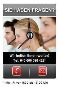 Kundenservice bei der Hanseatic Bank