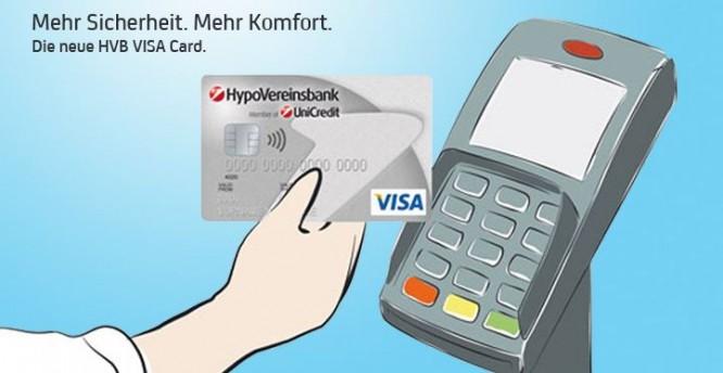 Kontaktlos zahlen mit der HVB VISA Card
