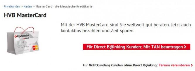 Die klassische HVB MasterCard