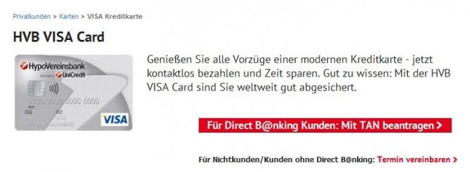 Die HVB VISA Card und ihre Vorzüge