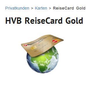 Mit der HVB ReiseCard Gold einmal um die Welt