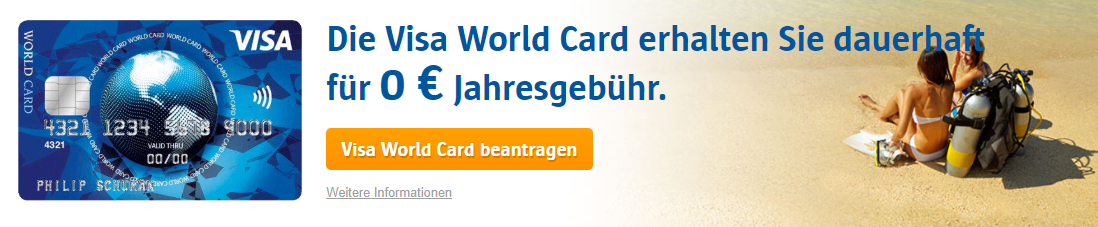 ICS VISA World Card Kreditkarte beantragen