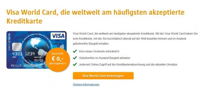 Ein Marktführer unter den Kreditkarten: Die VISA World Card