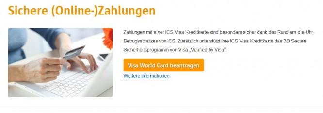 Online Zahlungen sind bei VISA geschützt