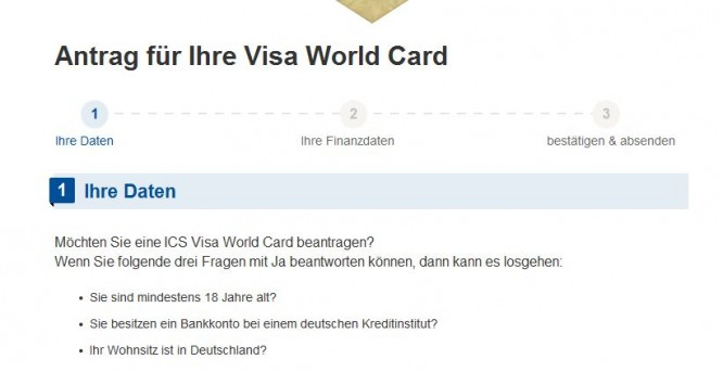 Visa Karte Beantragen