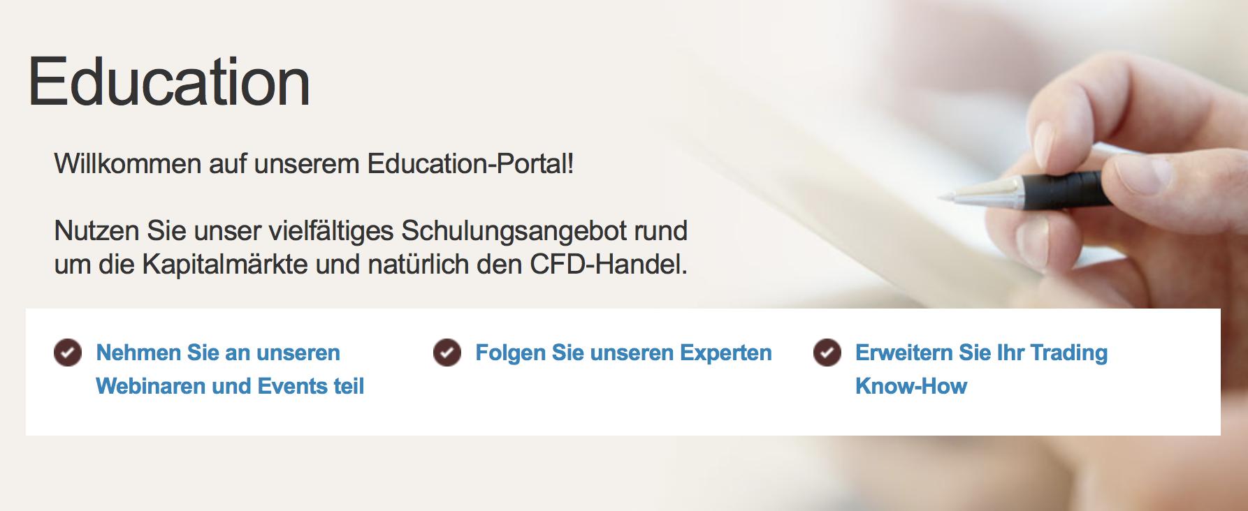 IG bietet Tradern ein Education-Portal zur Weiterbildung